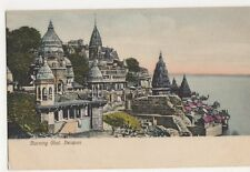 India, Burning Ghat, Benares Postcard, B213