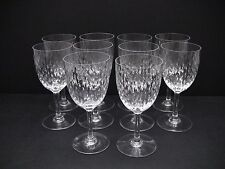 Baccarat Crystal PARIS (Cut) Tall Water Goblets Glasses / Set of 10
