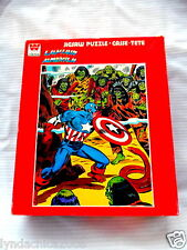 Vintage 1976 CAPTAIN AMERICA Jigsaw Puzzle By Whitman (200 PIECES) COMPLETE