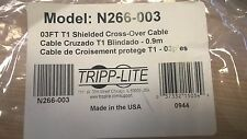 Tripp Lite T1 schermato con RJ48C Cavo Cross-Over (RJ45 M/M), 3-ft. (N266-003)