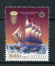 Latvia 2017 MNH 19th Century Historical Ships MGS Abraham 1v Set Boats Stamps