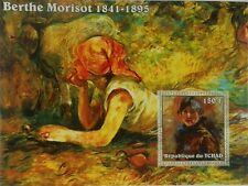 Paintings of Berthe Morisot painting Tchad Chad s/s Michel Bl. 339A #TCH215