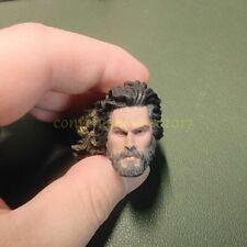 """Painted Service 1/12 Jason Momoa Aquaman LongHair Head Sculpt for 6"""" Mez One:12"""