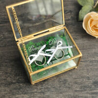 Glass Wedding Ring Box Geometric Ring Box, Personalized  Wedding Ring Bearer Box