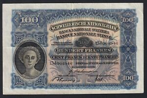 Svizzera 100 francs 1946 BB+/VF+  B-07