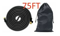 Lastest Heavy Duty Expandable Garden Hose Brass Connector + Bag 75FT Black
