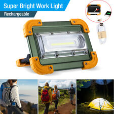Rechargeable 100000lm COB LED Work Light Inspection Flashlight Flood Lamp stand
