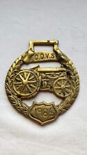 1986 CARLISLE & DISTRICT VINTAGE SOCIETY BRASS RALLY PLAQUE. 8.2 CM DIAMETER.