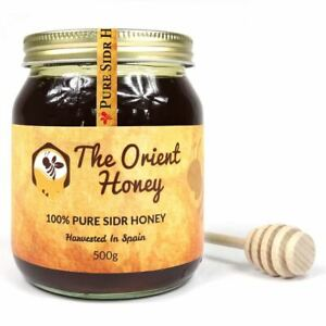 500G The Orient Honey Pure Sidr Top Quality 100% Authentic Royal Raw + Dipper