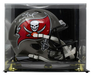 Tom Brady Signed Buccs Full Size SB LV Speed Replica Helmet w/Case Fanatics