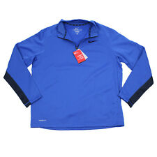 $55 Nwt Nike Mens Therma Fit 1/4 Zip Xl Blue Pullover Long Sleeve Active Shirt