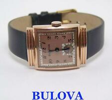 Vintage 14k Rose GP BULOVA FIFTH AVE Wind Watch Cal.10AX 1940s EXLNT* SERVICED