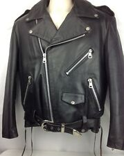 Vtg HARD ROCK CAFE Mens M ~ Cozumel Black Motorcycle Biker Leather Moto Jacket