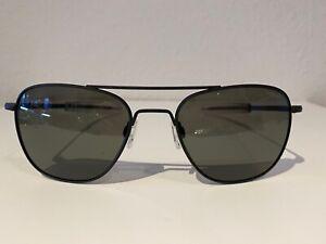 "Randolph AF 065 BRAND NEW ""Aviator"" sunglasses in matte black / AGX size 55"