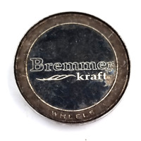 Bremmer Kraft Black/Chrome Snap-In Wheel Center Cap P/N: BR4-1-CAP