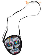Adult Day Of The Dead Bag Ladies Halloween Skeleton Fancy Dress Accessory Womens
