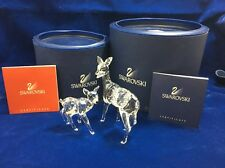 Mint Swarovski Retired Crystal Doe & Fawn Deer Rare Encounter Original Box