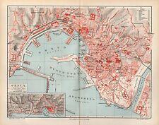 Genova GENOVA VILLETTA DI NEGRO Palazzo Reale City Map Mappa della Città di 1894