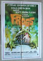 "FROGS Lebanon English Text One sheet Horror Film Movie Poster 27.4""x40 1978 NM"