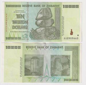 ZIMBABWE 10 TRILLION DOLLARS, 2008, P-88, AA PREFIX EF BANK NOTE