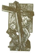 Pavel hlavaty EXLIBRIS Dr. Med. Blum Crucifixion SKULL Czech etching sign. c3