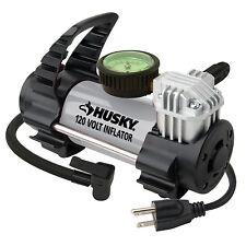 CAR AIR COMPRESSOR 120 Volt Outlet Husky Compact Portable Tire Pump Inflator