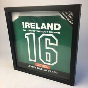 "T-Shirt Jersey Display Frame Football Shirt Signed DIY Black Frame | 13"" x 13"""