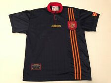 Spain Espana jersey Shirt LARGE soccer vintage adidas blue away 1996 N101