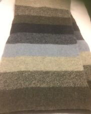 Lambswool Blue/Grey Striped Scarf Gap Preowned