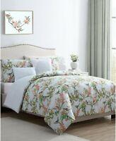 VCNY Home Chelsea Springs 5-Pc. Queen Comforter Set Queen Green Bird Design