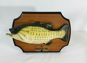 """1999 Big Mouth Billy Bass Singing """"Dont Worry Be Happy"""" 13"""" Lunker Gag Gift"""