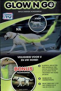 GLOW N GO™ reflektierender Leinen Überzug Sicherheit für Ihren Hund