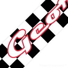 CHECKERED FLAG bedroom WALL BORDER chequered cars personalised wallpaper strips