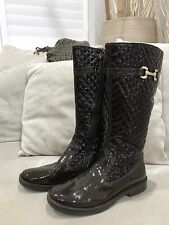 Primigi Italian Patent Leather Womens Knee high Boots Excellent Condition Sz 37