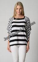 Noni B Liz Jordan Ladies Batwing Top size Large Colour Black White