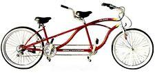 New  21 Speed Tandem Beach Cruiser Bike Bicycle Red