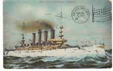 "US 1909 NAVY US STEAMSHIP ARMED CRUISER ""CALIFORNIA"" PC MAILED AT SAN FRANSISCO"