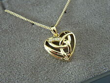 Clogau 9ct Yellow Welsh Gold Eternal Love Diamond Pendant RRP £600.00