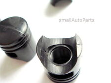 (2) Black Piston Tire/Wheel Stem Valve CAPS Motorcycle/Bike/Custom/Chopper/BMX