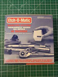 Etch-O-Matic EOM-1 Starter Set Amperage Rating: 2 Amps Volts: 10 Volts
