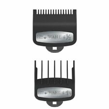 2 PCS Wahl Premium Clipper Cutting Guides Guards Metal Clip Set #1/2 & #1 1/2