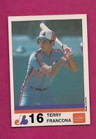 VERY RARE 1983 MONTREAL EXPOS TERRY FRANCONA STUART NRMT-MT CARD (INV# A2886)