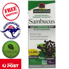 Nature's Answer, Sambucus, Black ElderBerry, 12,000 mg, 4 fl oz (120 ml)