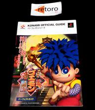 GUIA GUIDE BOOK GAMBARE GOEMON Kurunara Koi Playstation Konami Official Guide PS