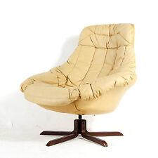 Rétro Vintage Danois bramin pivotant en cuir Fauteuil lounge chaise œuf 60 S 1970 S