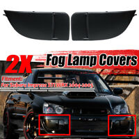 For 2004 2005 Subaru Impreza WRX STi Fog Light Lamp Bumper Bezel Cover Cap Matte