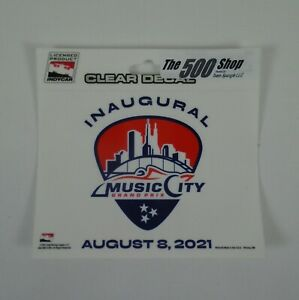 2021 Music City Grand Prix Nashville, TN Inaugural Running Event Collector Decal