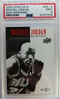 2009-10 Upper Deck Now Appearing Admit One Michael Jordan #NA6, PSA 9 Only 22^