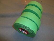 "Bright Green Hockey Tape 4 rolls 1""x25yds. * First Quality *"