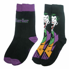 Le Joker Visage & Logo 2 Pack Chaussettes pour Homme Rétro Cadeau UK 7-11 mélange coton noir